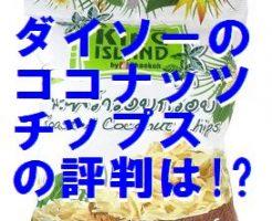 ダイソーココナッツチップス